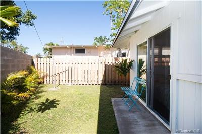 Kailua Single Family Home For Sale: 819 Oneawa Street #C