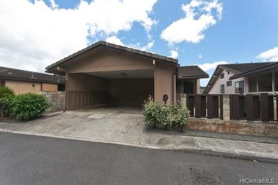 Aiea Single Family Home In Escrow Showing: 98-330 Kilihe Way #27
