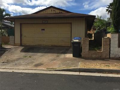 Waipahu Single Family Home In Escrow Showing: 94-730 Kaaka Street