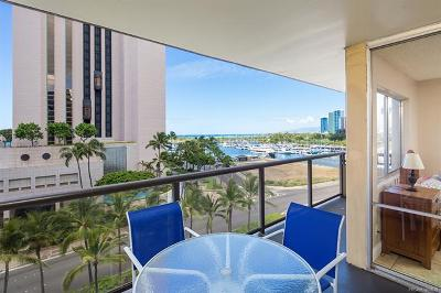 Honolulu Condo/Townhouse For Sale: 1684 Ala Moana Boulevard #653