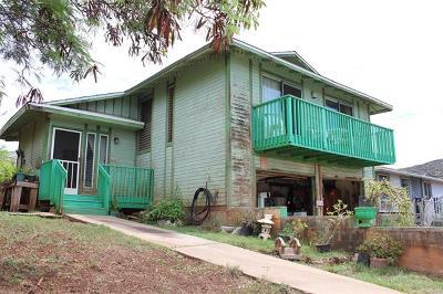 Single Family Home For Sale: 86-894 Hale Ekahi Drive