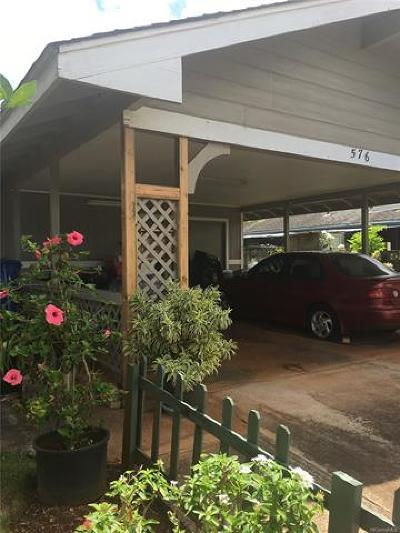 Wahiawa Single Family Home For Sale: 576 Kulia Street