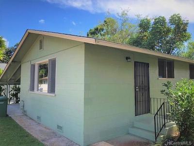 Honolulu County Single Family Home For Sale: 2127 California Avenue #B