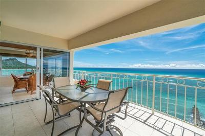 Honolulu County Condo/Townhouse In Escrow Not Showing: 2161 Kalia Road #1100