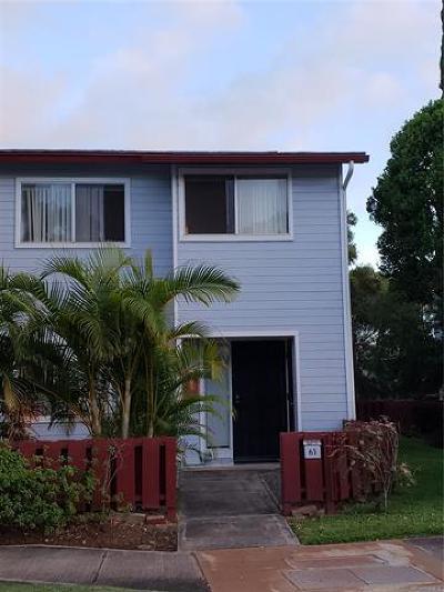 Kapolei Condo/Townhouse For Sale: 92-1250 Makakilo Drive #63