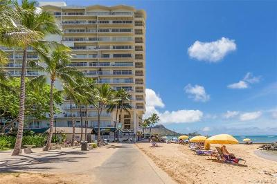 Honolulu County Condo/Townhouse In Escrow Not Showing: 2161 Kalia Road #916