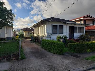 Honolulu Single Family Home For Sale: 1236, 1236a 8th Avenue