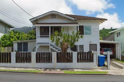 Honolulu Single Family Home For Sale: 214 Naone Street