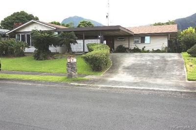 Kaneohe Single Family Home For Sale: 46-144 Humu Street