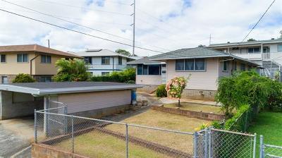 Honolulu Single Family Home For Sale: 1608 Kilohi Street