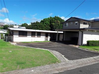 Single Family Home For Sale: 1604 Hoolehua Street
