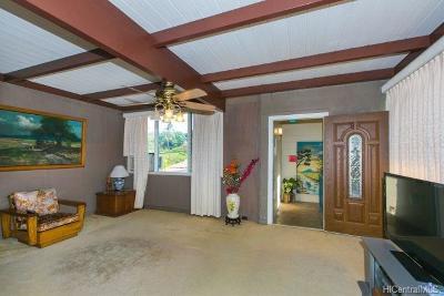 Honolulu Single Family Home In Escrow Showing: 1510 Haku Street