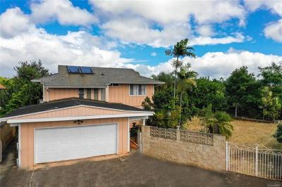 Mililani Single Family Home In Escrow Showing: 94-428 Hokulewa Place