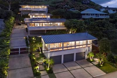 Kailua HI Single Family Home For Sale: $3,625,000