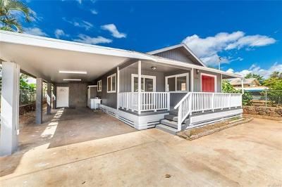 Honolulu County Single Family Home In Escrow Not Showing: 87-224 Holopono Street