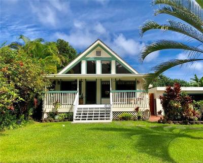 Hauula Single Family Home For Sale: 53-378v Kamehameha Highway #A
