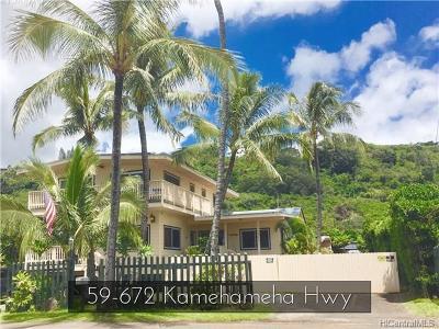 Haleiwa Single Family Home For Sale: 59-672 Kamehameha Highway