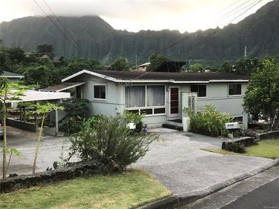 Kaneohe Single Family Home For Sale: 45-530 Kuuipo Place