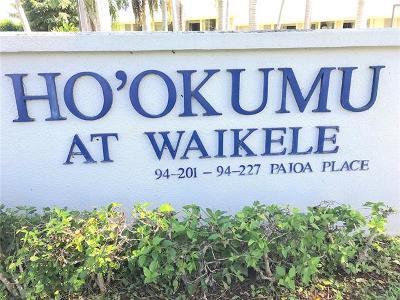Waipahu Condo/Townhouse For Sale: 94-219 Paioa Place #F206