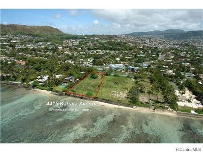 Hawaii County, Honolulu County Residential Lots & Land For Sale: 4415 Kahala Avenue
