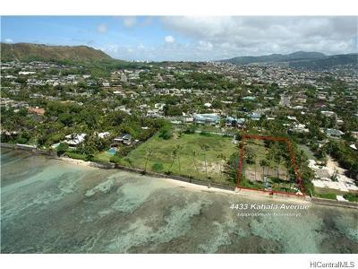 Hawaii County, Honolulu County Residential Lots & Land For Sale: 4433 Kahala Avenue