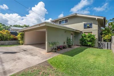 Kailua Single Family Home For Sale: 461 Kawailoa Road #D