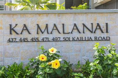 Kailua Condo/Townhouse For Sale: 497 Kailua Road #2103