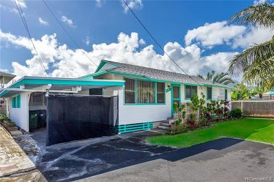 Kailua HI Single Family Home For Sale: $899,000