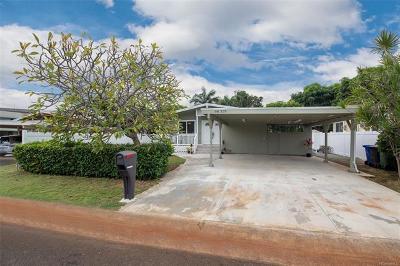Aiea Single Family Home For Sale: 98-319 Ponokaulike Street