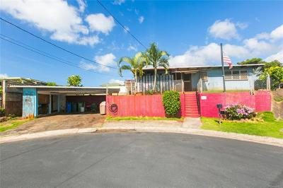 Pearl City Single Family Home For Sale: 1626 Hoopai Place