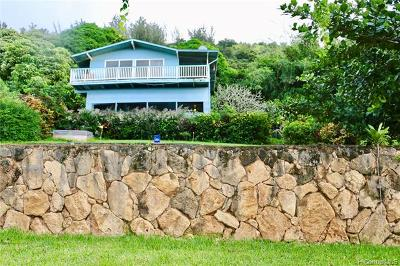 Haleiwa HI Single Family Home For Sale: $1,300,000