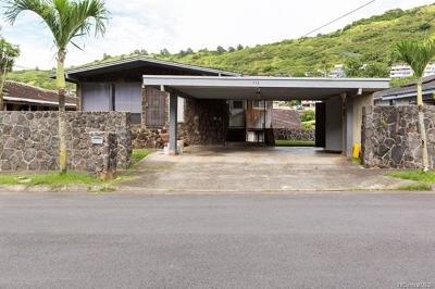 Honolulu Single Family Home For Sale: 1552 Ala Aoloa Loop