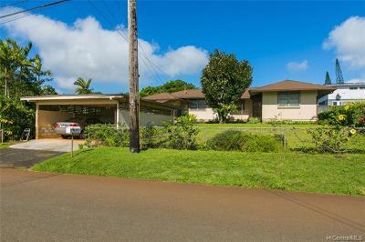Wahiawa Single Family Home For Sale: 1684 Nakula Street