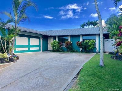 Kailua HI Single Family Home For Sale: $975,000