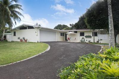 Kailua Single Family Home In Escrow Showing: 712 Ululani Street