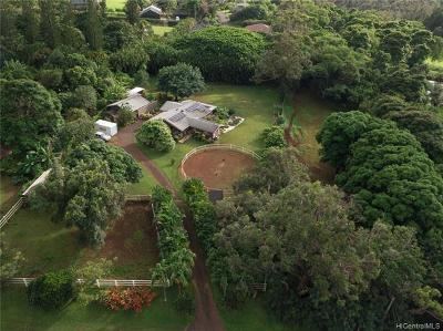 Haleiwa Single Family Home For Sale: 59-405 Pupukea Road