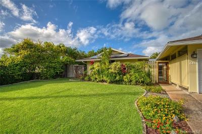 Kailua HI Single Family Home For Sale: $1,295,000