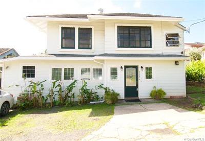 Honolulu Single Family Home For Sale: 2665 Liliha Street #A