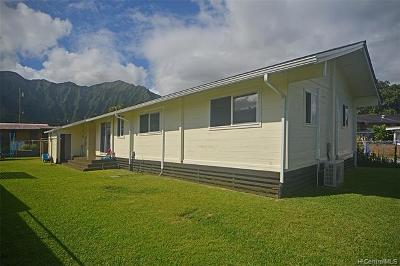 Kaneohe Single Family Home For Sale: 47-392 Kapehe Street