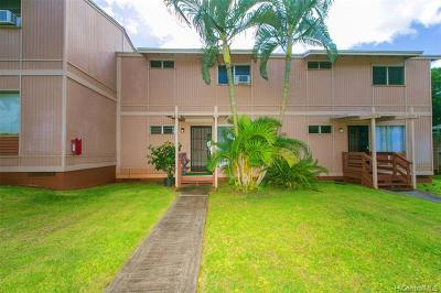 Pearl City Condo/Townhouse For Sale: 98-1352 Nola Street #G