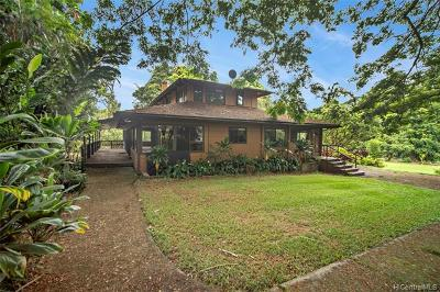 Kaneohe Single Family Home For Sale: 48-249 Waiahole Valley Road