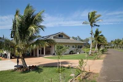Kahuku Single Family Home For Sale: 57-546 Kamehameha Highway #1