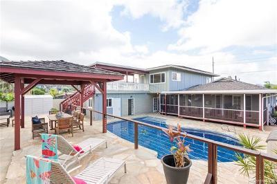 Kailua Single Family Home For Sale: 1345 Keolu Drive
