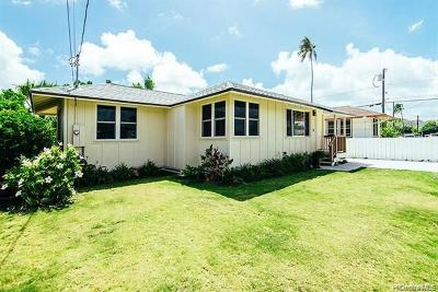 Kailua Single Family Home For Sale: 349 Manae Street