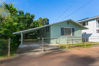 Wahiawa Single Family Home For Sale: 2127 California Avenue #B