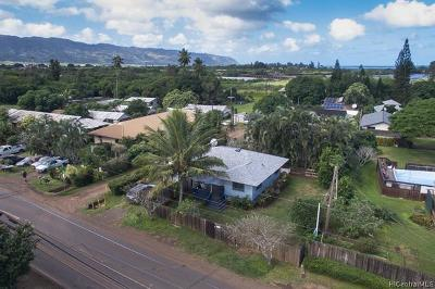 Haleiwa Single Family Home For Sale: 66-665 Haleiwa Road #1