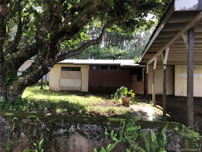 Wahiawa Single Family Home For Sale: 2543 California Avenue