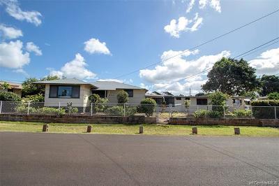 Waialua Single Family Home For Sale: 67-354 Kaliuna Street