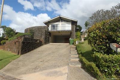 Aiea Single Family Home For Sale: 99-1066 Manako Street
