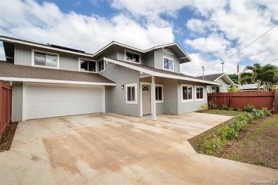Waialua Single Family Home For Sale: 67-221 Kuhi Street